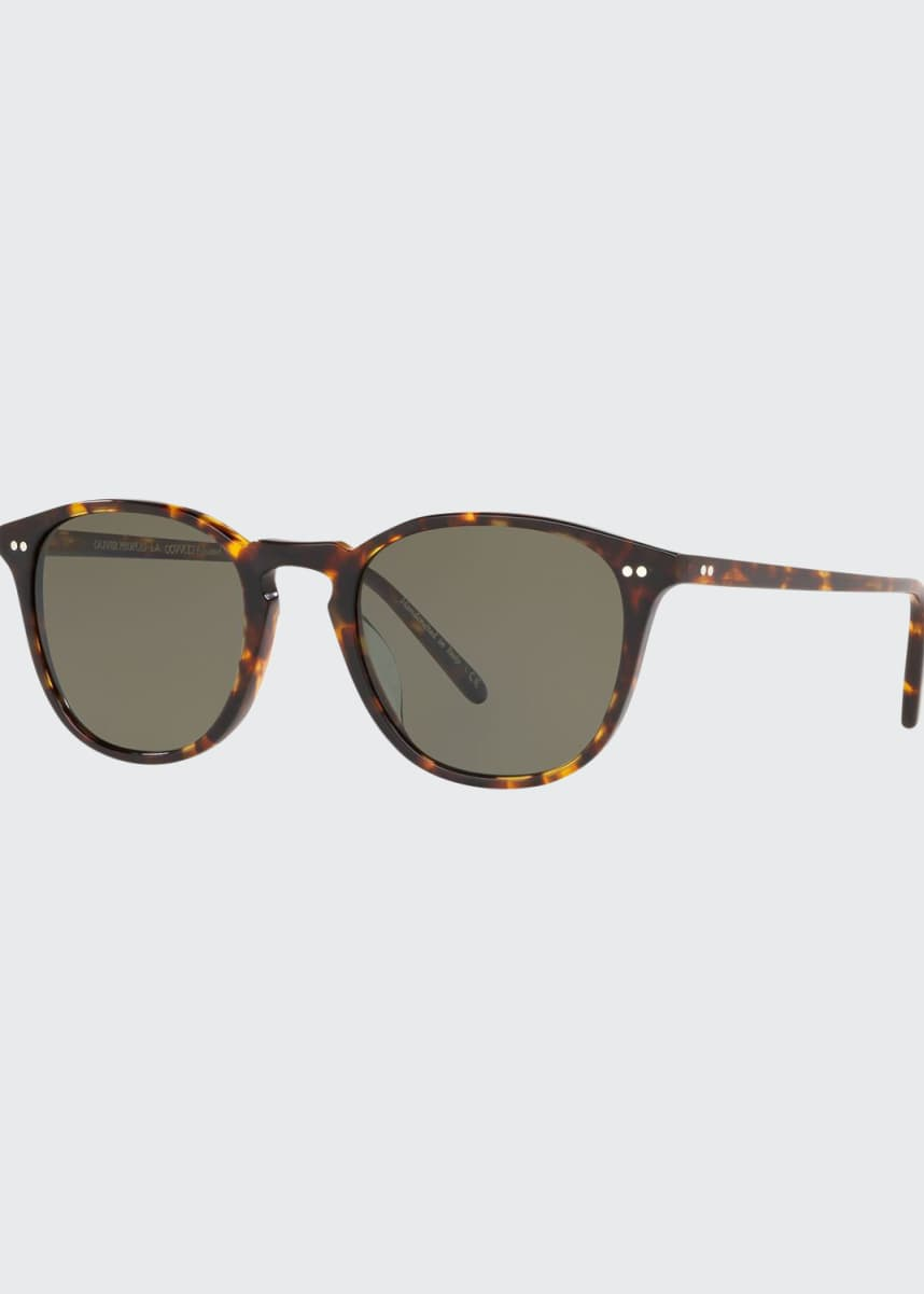 Oliver Peoples Men's Forman L.A. Tortoiseshell Sunglasses