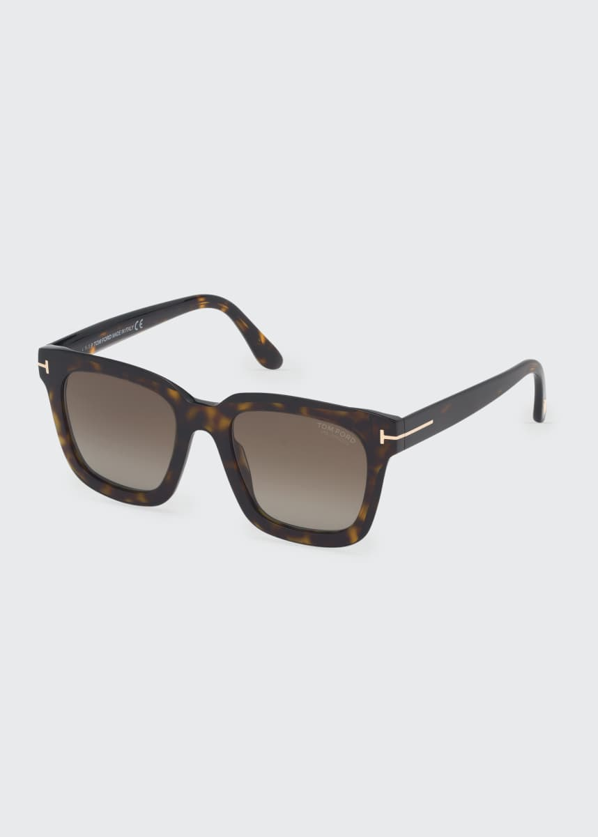 TOM FORD Sari Acetate Square Mirrored Sunglasses
