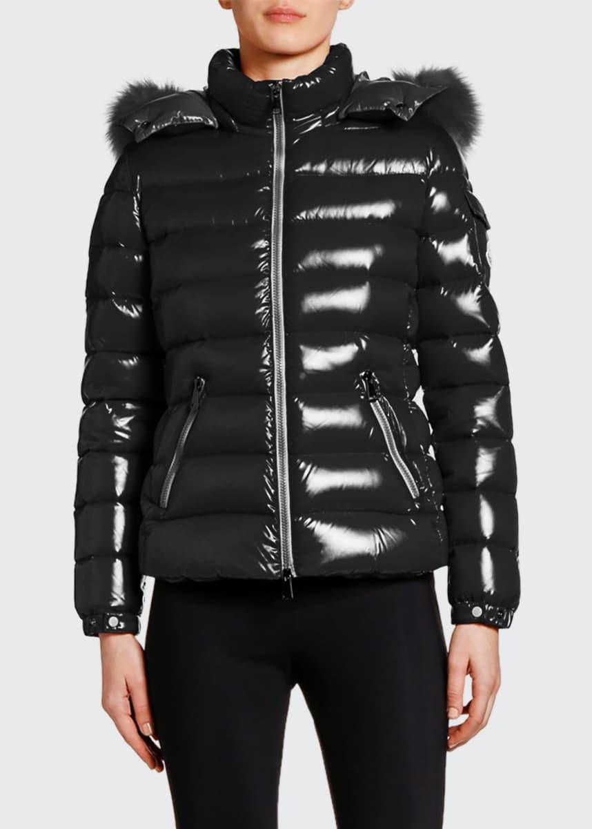 Prada Women's Fox Fur Trimmed Puffer Coat | Ladies coat