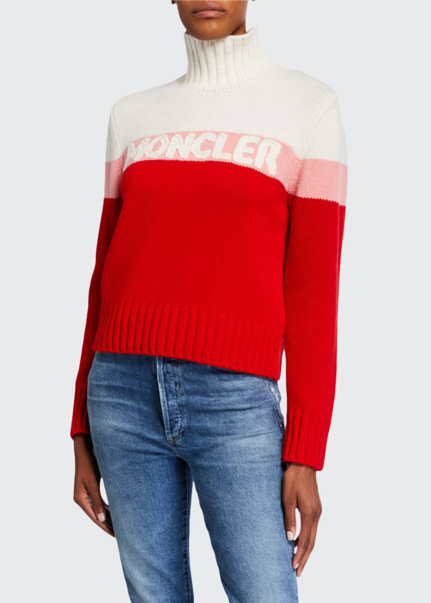Moncler Colorblock Logo Sweater