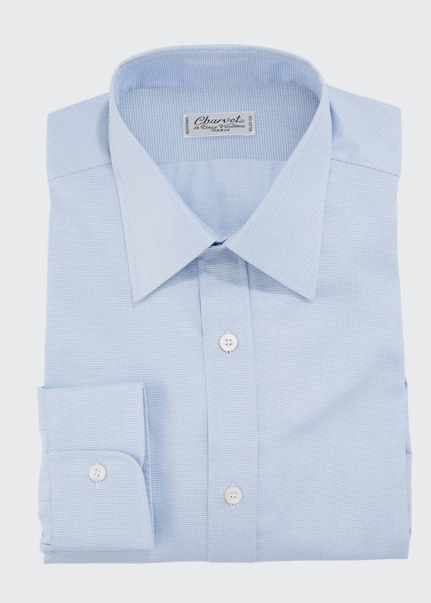 Charvet Men's Striped Cotton Dress Shirt