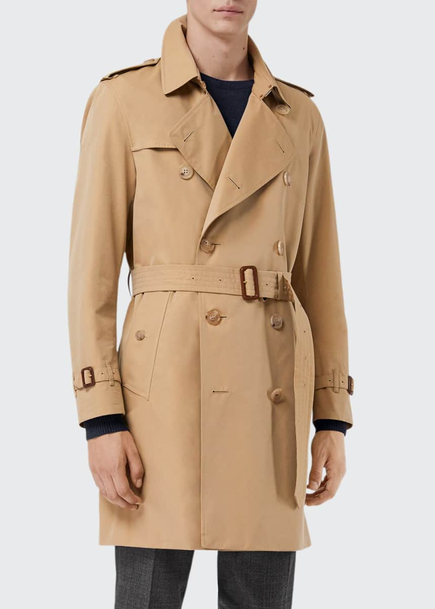 Burberry Men's Kensington Belted Trench Coat
