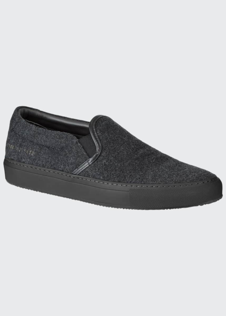 Common Projects Men's Wool Slip-On Sneakers