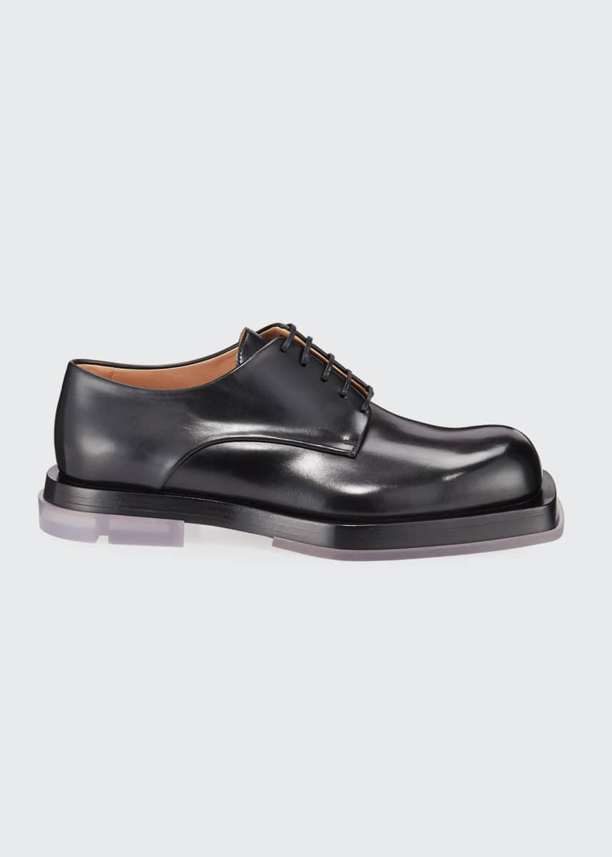 Bottega Veneta Men's Lennon Platform Leather Derby Shoes