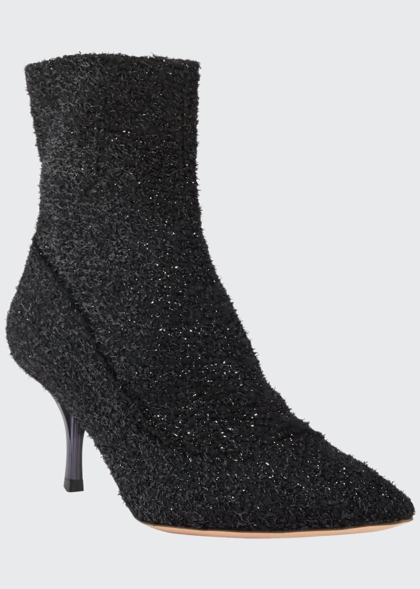 Rochas Boucle Pointed Ankle Booties