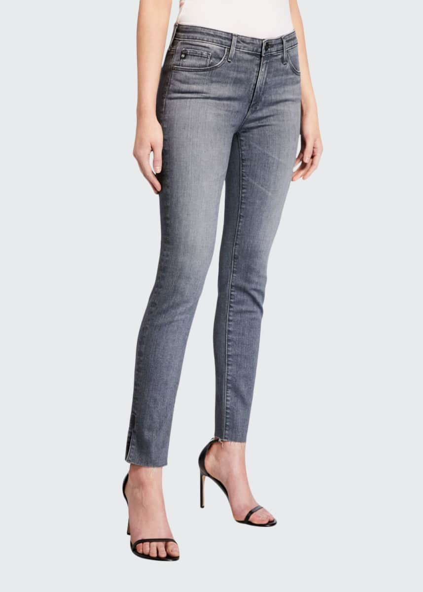 AG Adriano Goldschmied Prima Mid-Rise Straight-Leg Ankle Jeans