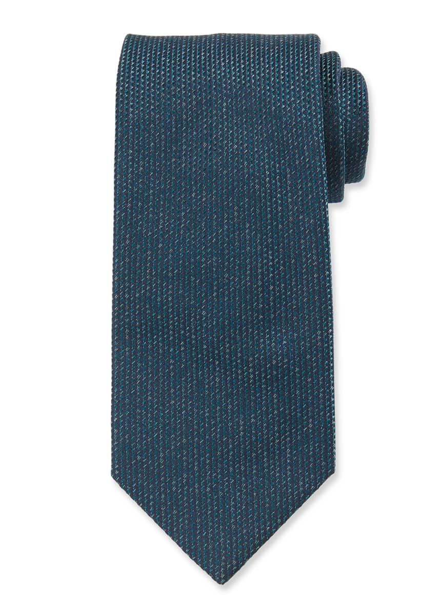 Brioni Men's Heathered Solid Silk Tie