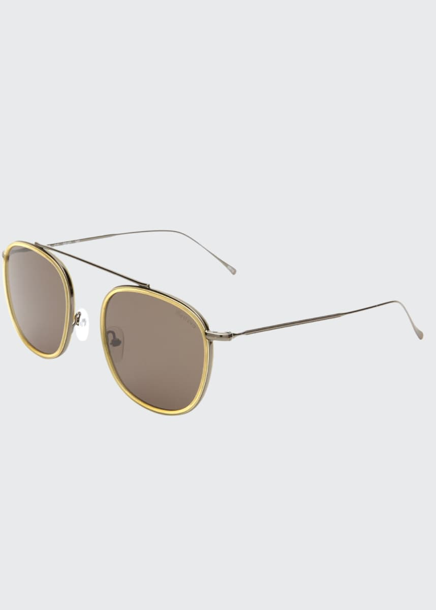 Illesteva Aviator Metal & Acetate Sunglasses