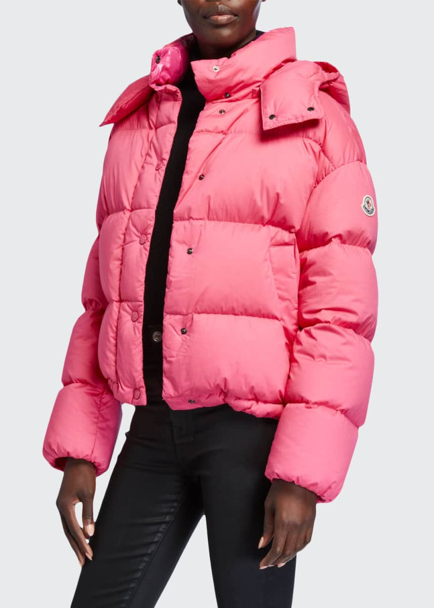 Moncler Onia Cropped Puffer Jacket w/ Detachable Hood