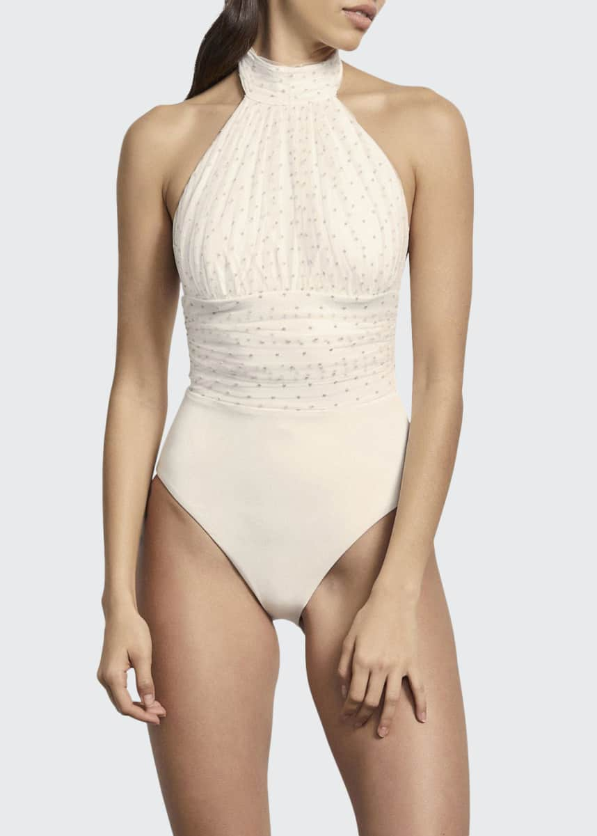 Amaio Renee High-Mesh Maillot One-Piece Swimsuit
