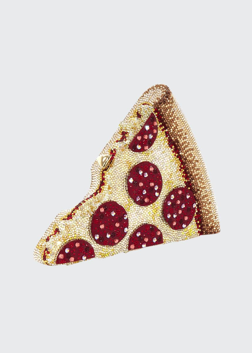 Judith Leiber Couture Pepperoni Pizza Clutch Bag