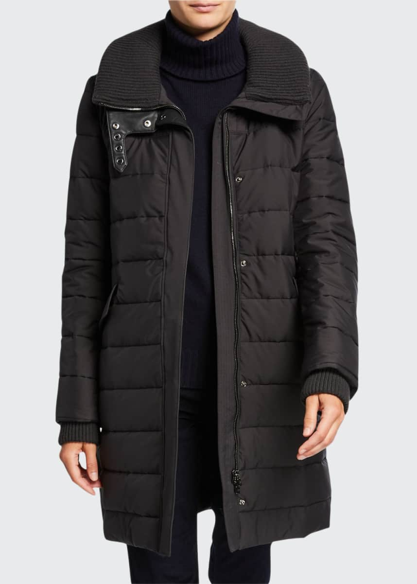 Loro Piana Long Wind-Resistant Quilted Coat