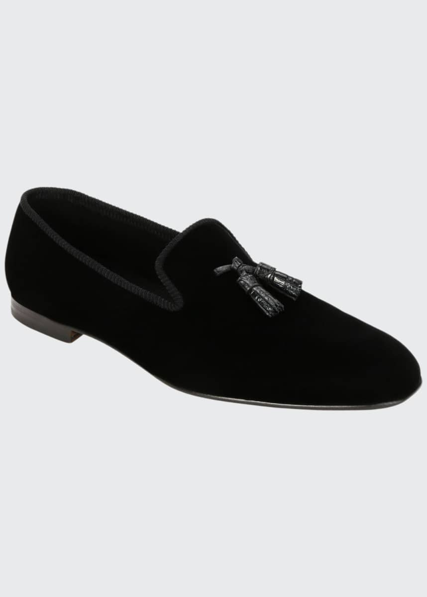 TOM FORD Men's Velvet Tassel Loafers