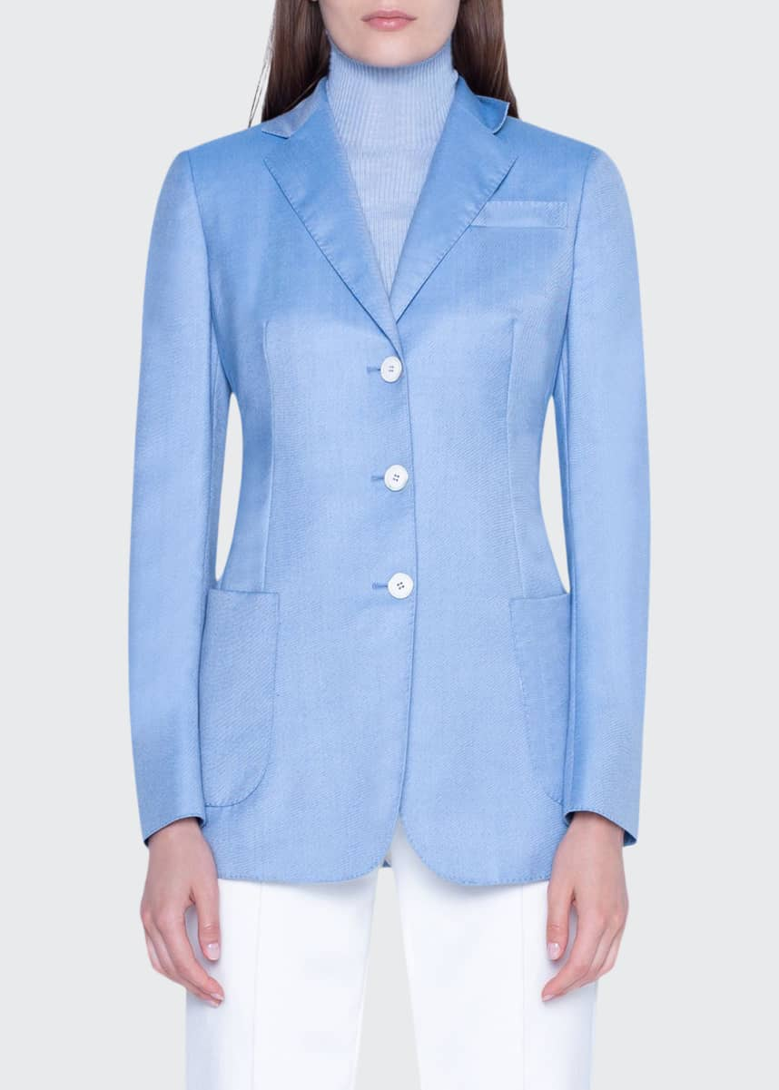 Akris Cashmere Notched-Collar Jacket