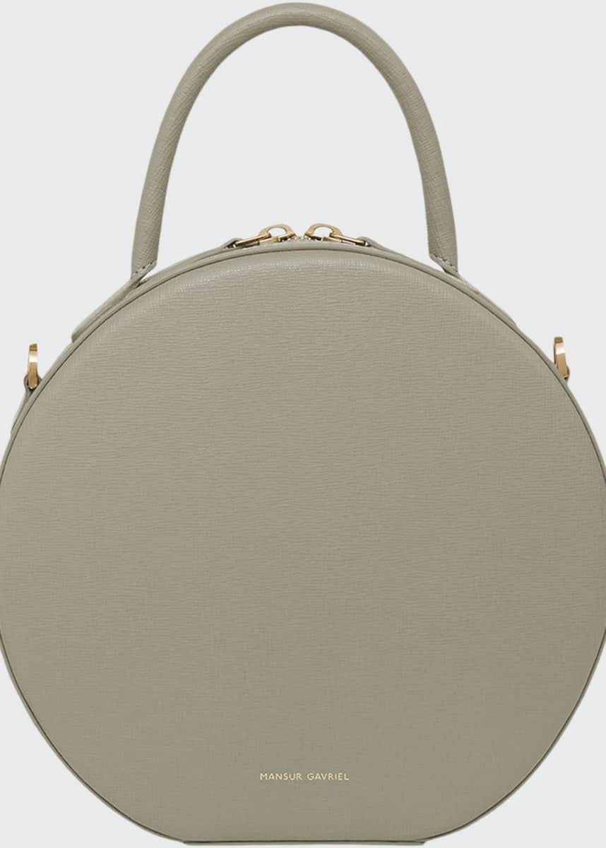 Mansur Gavriel Saffiano Circle Crossbody Bag