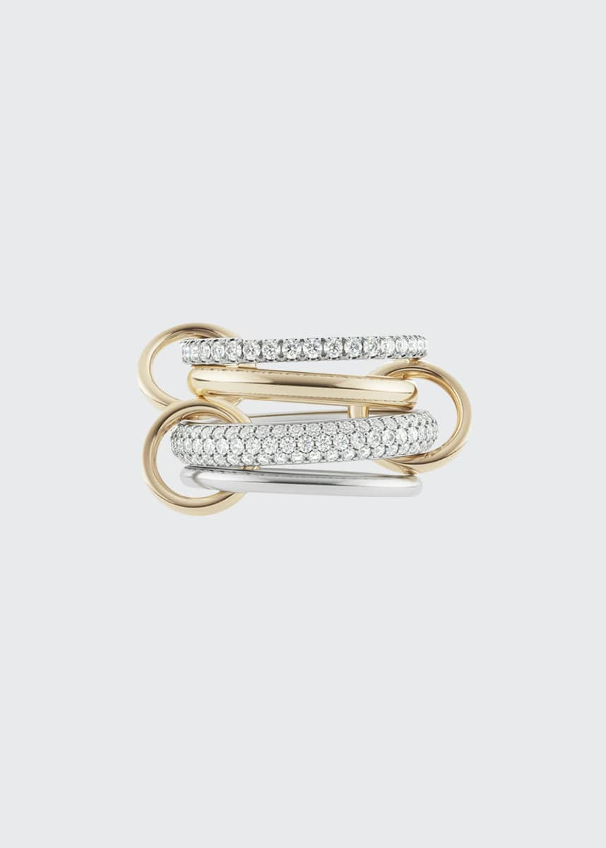 Spinelli Kilcollin Vega Blanc Two-Tone Ring w/ Diamonds