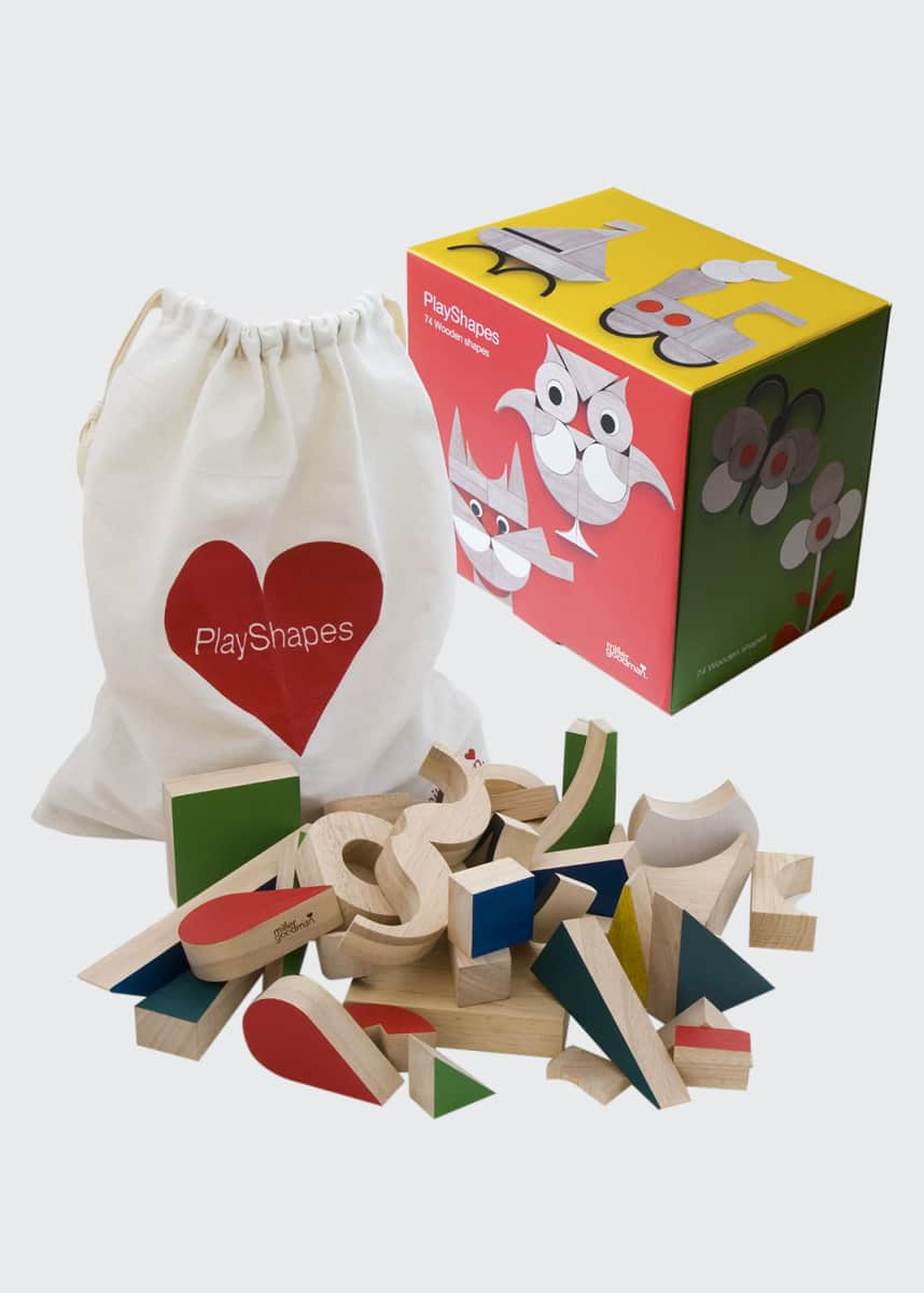 MillerGoodman PlayShapes Wooden Block Set