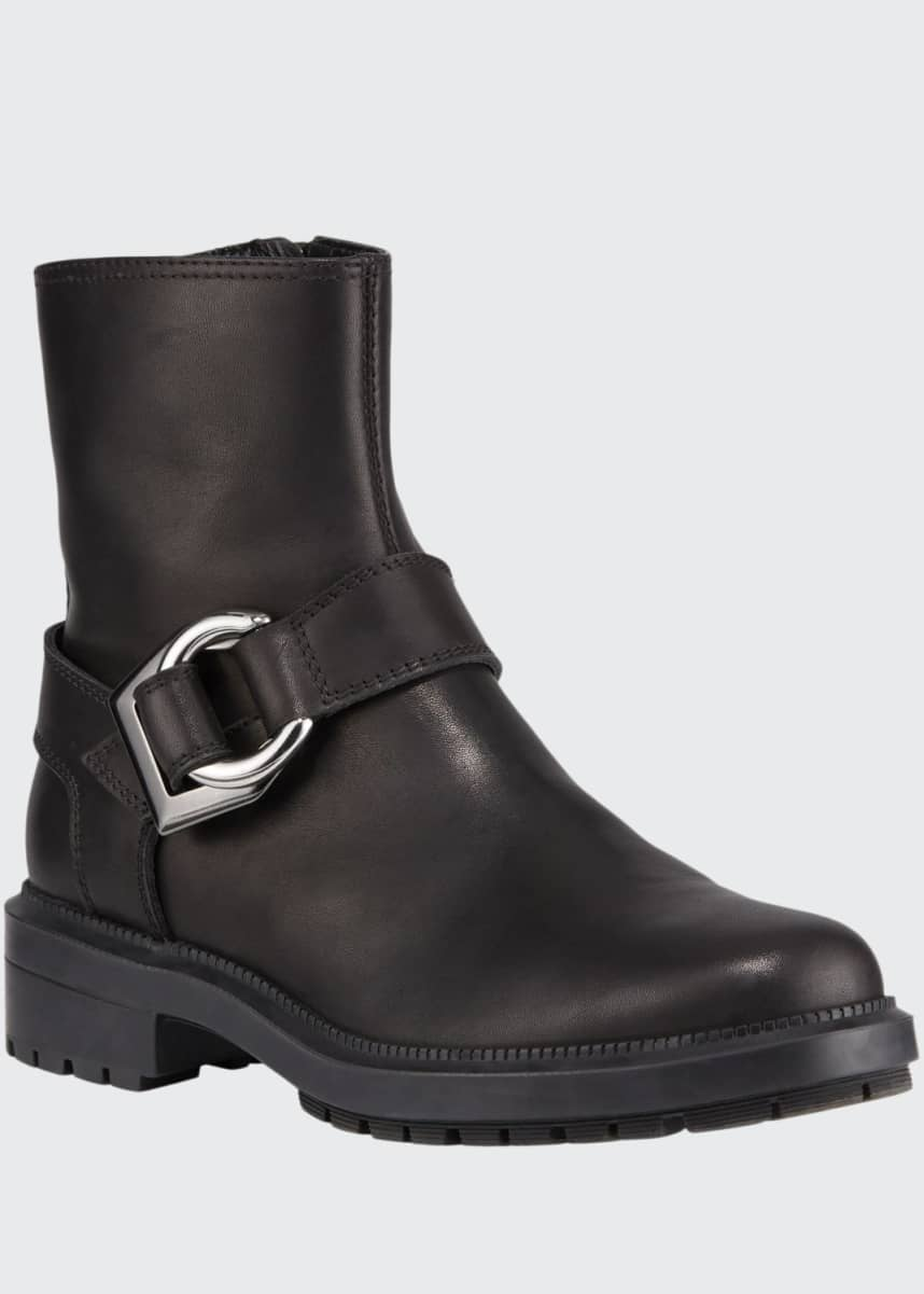 Aquatalia Lexie Lug-Sole Buckle Booties