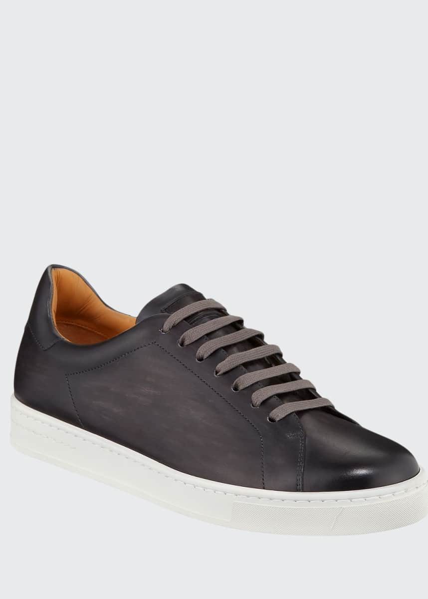 Magnanni for Neiman Marcus Men's Low-Top Leather Sneakers