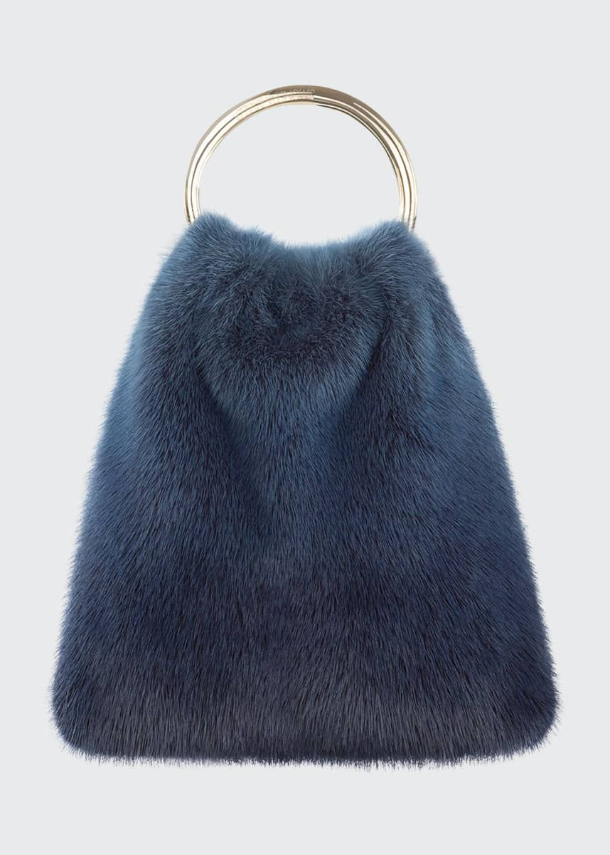 Simonetta Ravizza Furrissima Mink Top Handle Bag
