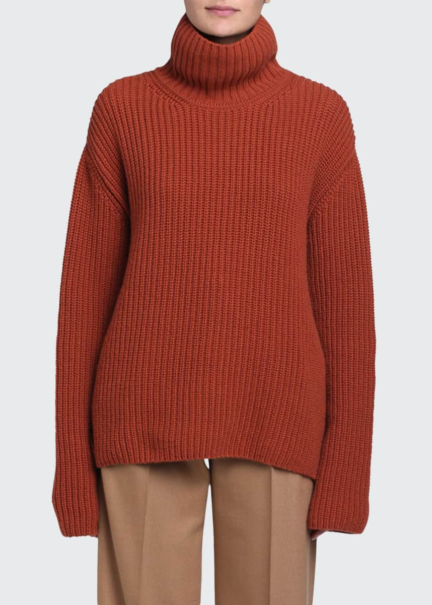 Fendi Cashmere Funnel-Neck Sweater