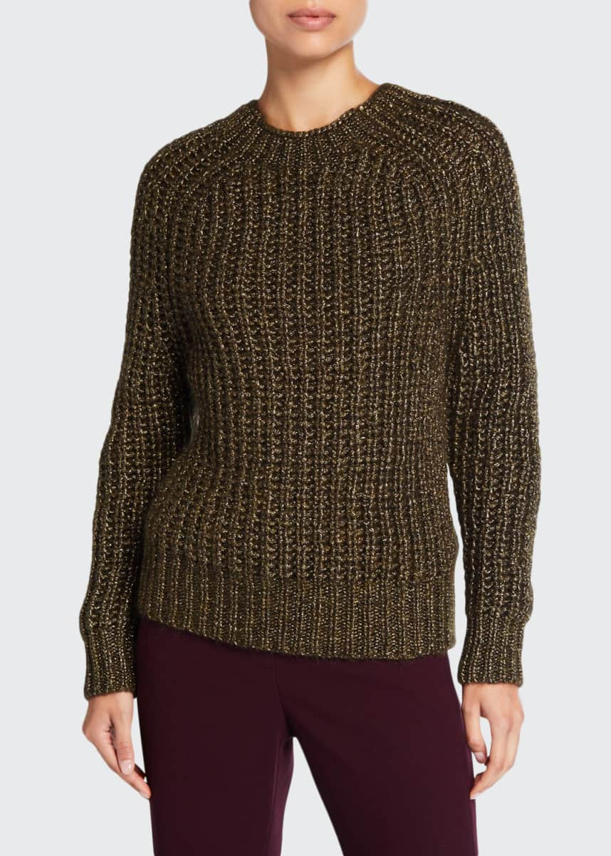 Forte Forte Shimmered Mohair Ribbed Sweater