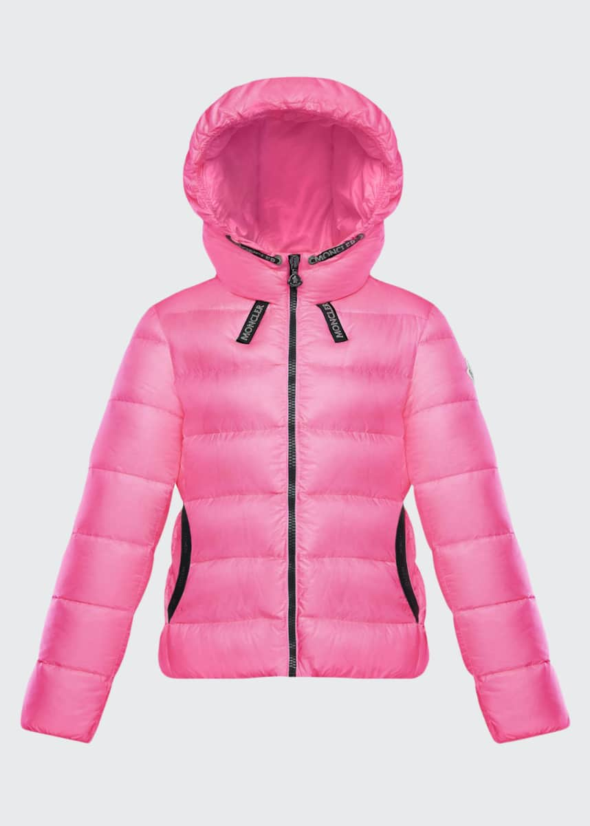 Moncler Chevril Hooded Puffer Coat, Size 4-6