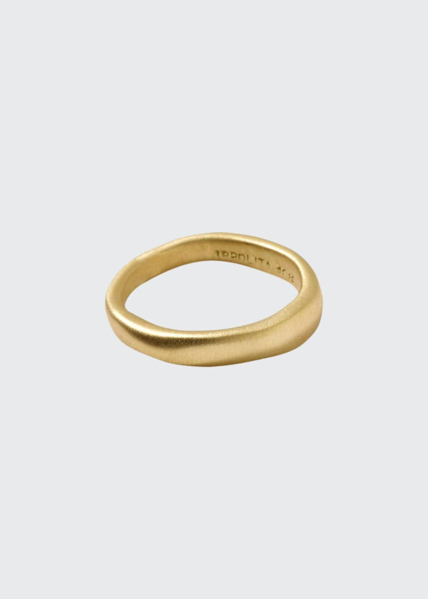 Ippolita 18k Gold Wide Squiggle Band Ring, Size 7
