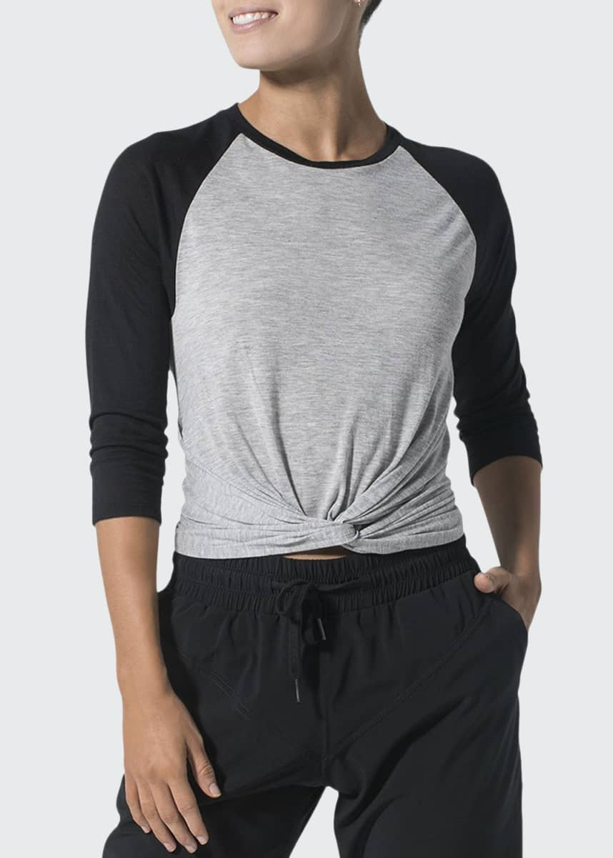 925 Fit Do and Don'ts Twisted Front 3/4-Sleeve Top