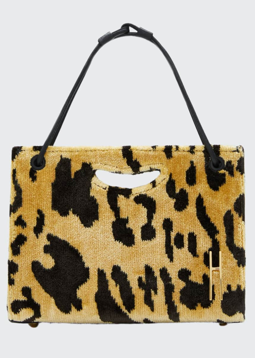 Hayward 1712 Mini Leopard Basket Tote Bag