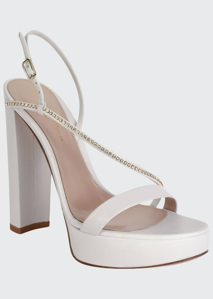 Gianvito Rossi Assymetric Platform Crystal-Trim Sandals