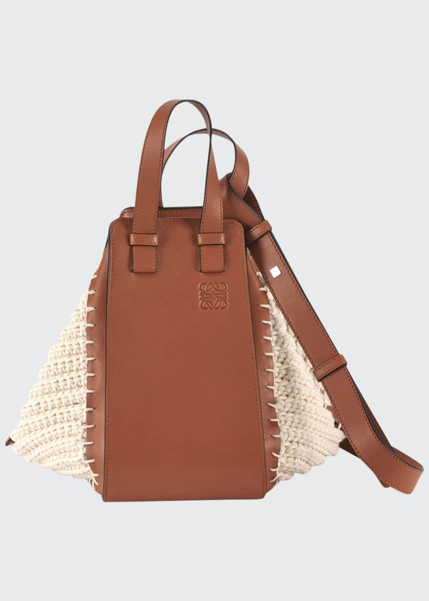 Loewe Hammock Small Cotton Knit Shoulder Bag