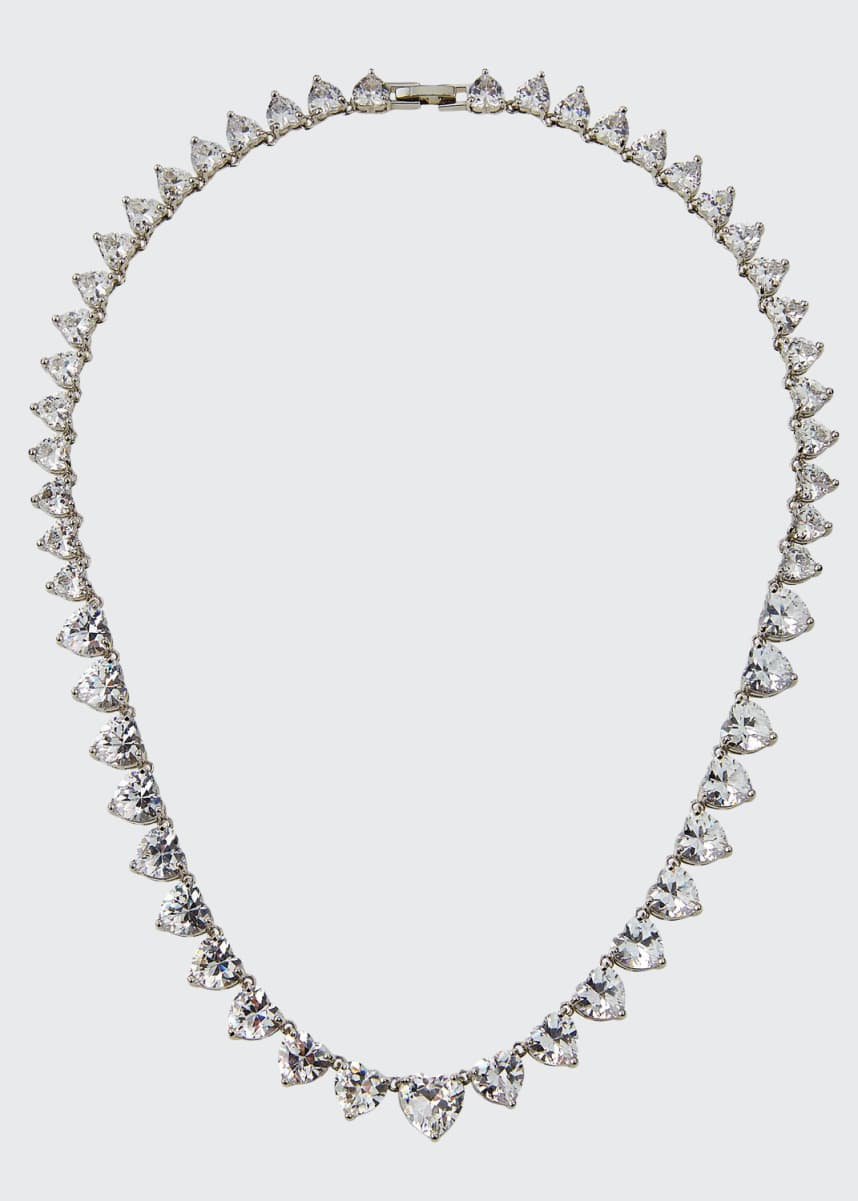 Fallon Monarch Heart Riviere Necklace