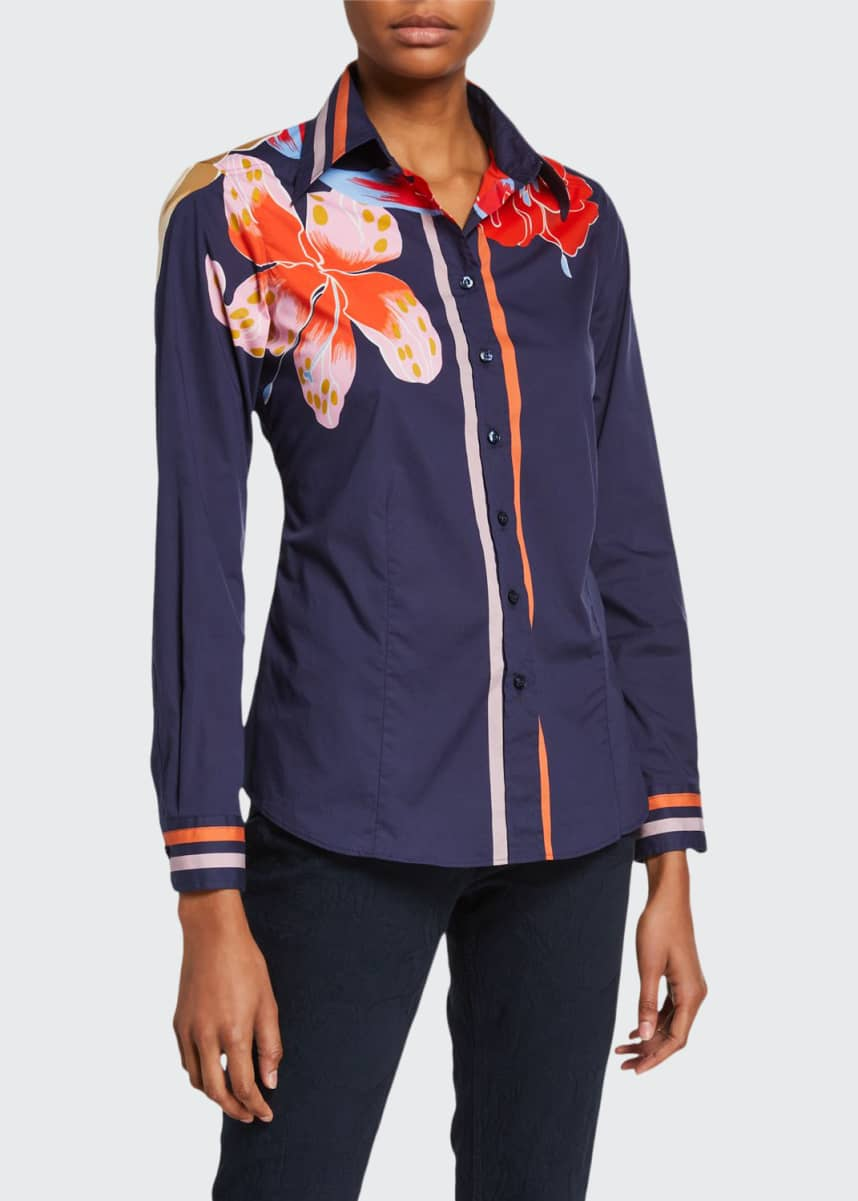 Etro Lily-Print Cotton Shirt