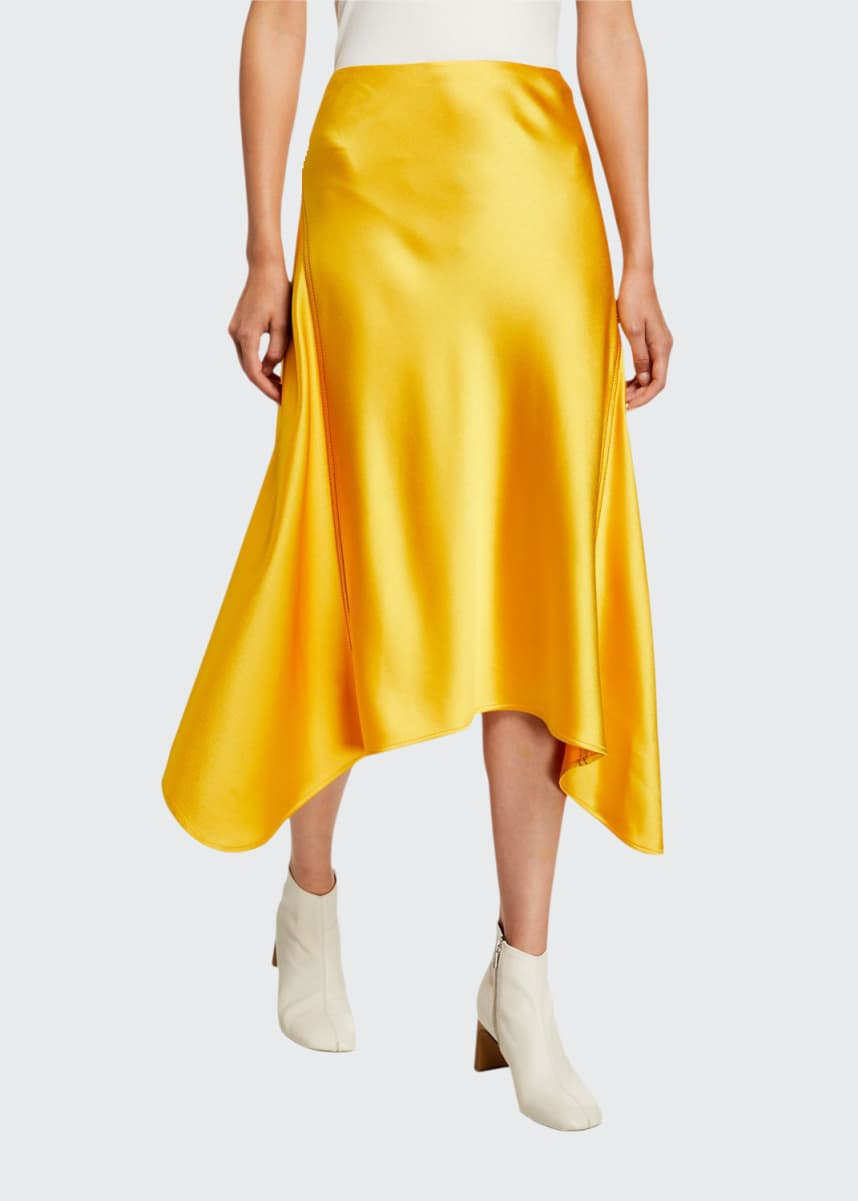 Sies Marjan Satin Asymmetric Skirt