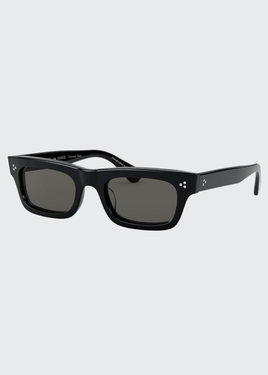 Oliver Peoples Rectangle Polarized Acetate Sunglasses