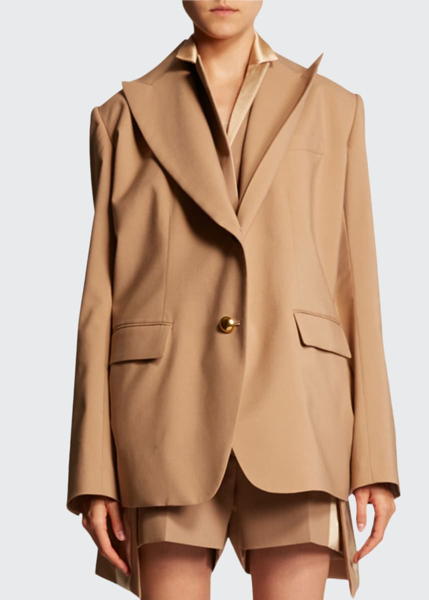 SACAI Double-Lapel Fitted Blazer