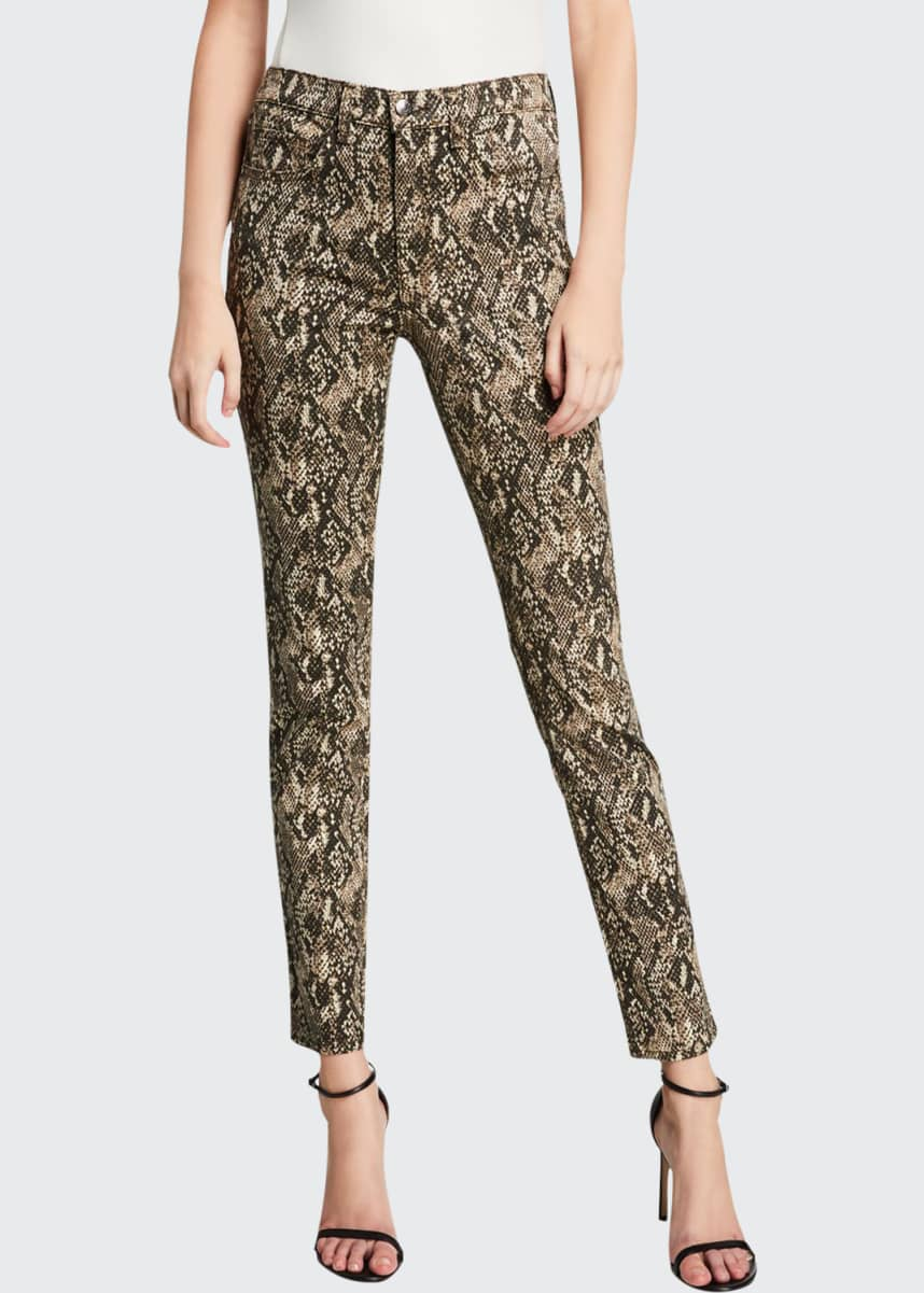 Veronica Beard Jeans Kate Leopard High Rise Skinny Jeans