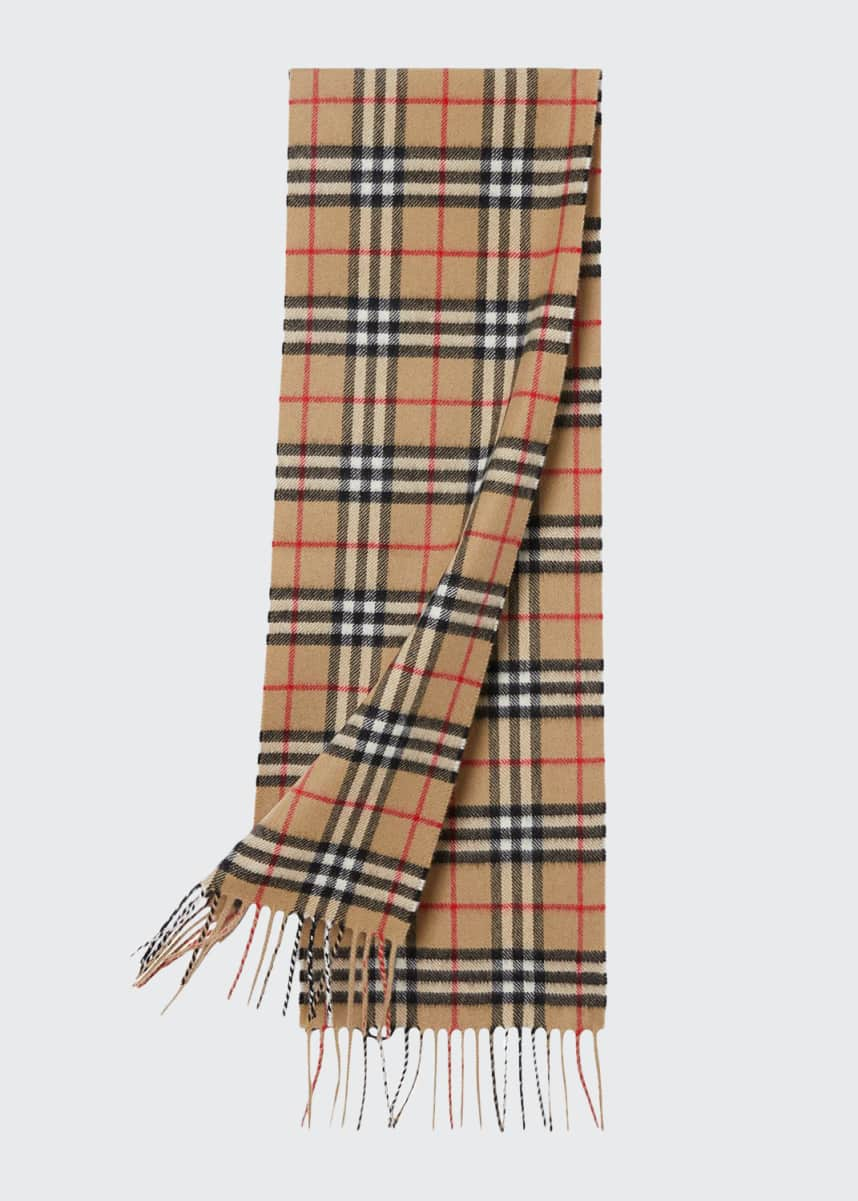 Burberry Kid's Vintage Check Cashmere Scarf