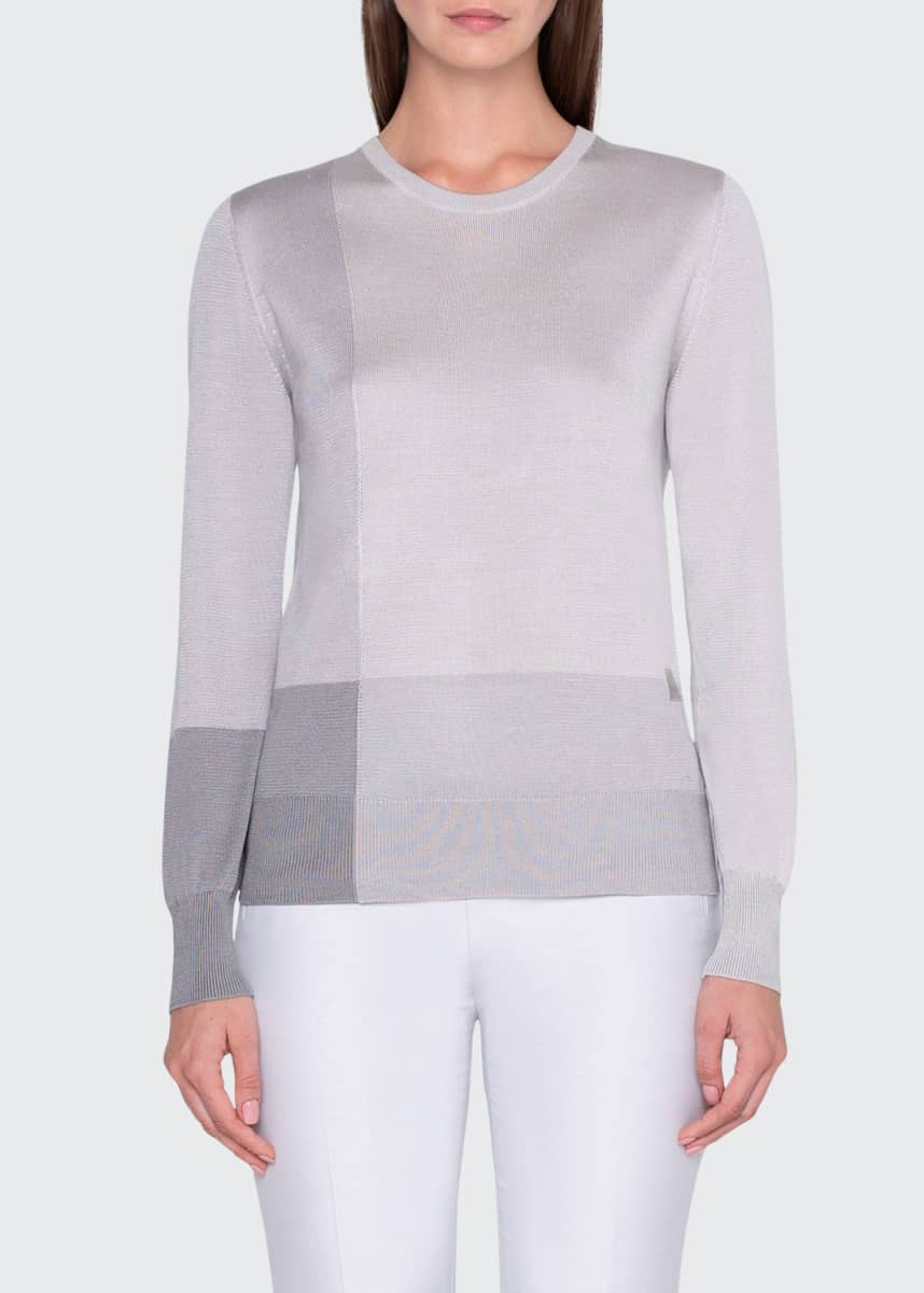 Akris Mezzo Colorblock Intarsia Sweater