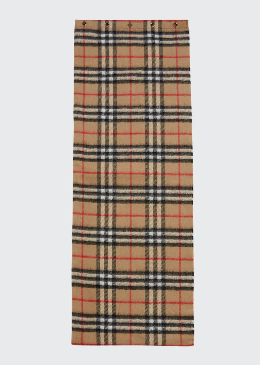 Burberry Kid's Vintage Check Cashmere Snood Scarf