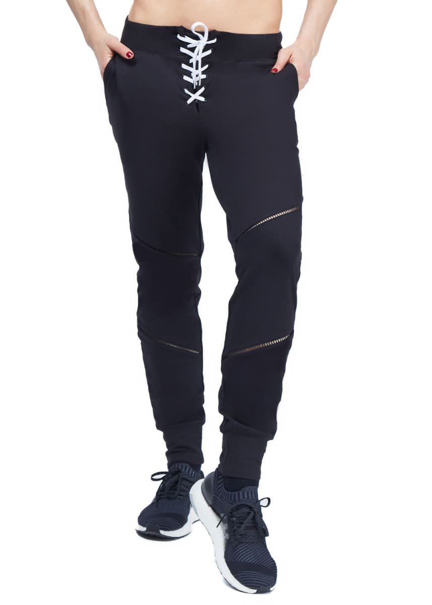 Urban Savage Laced Up Jogger Pants