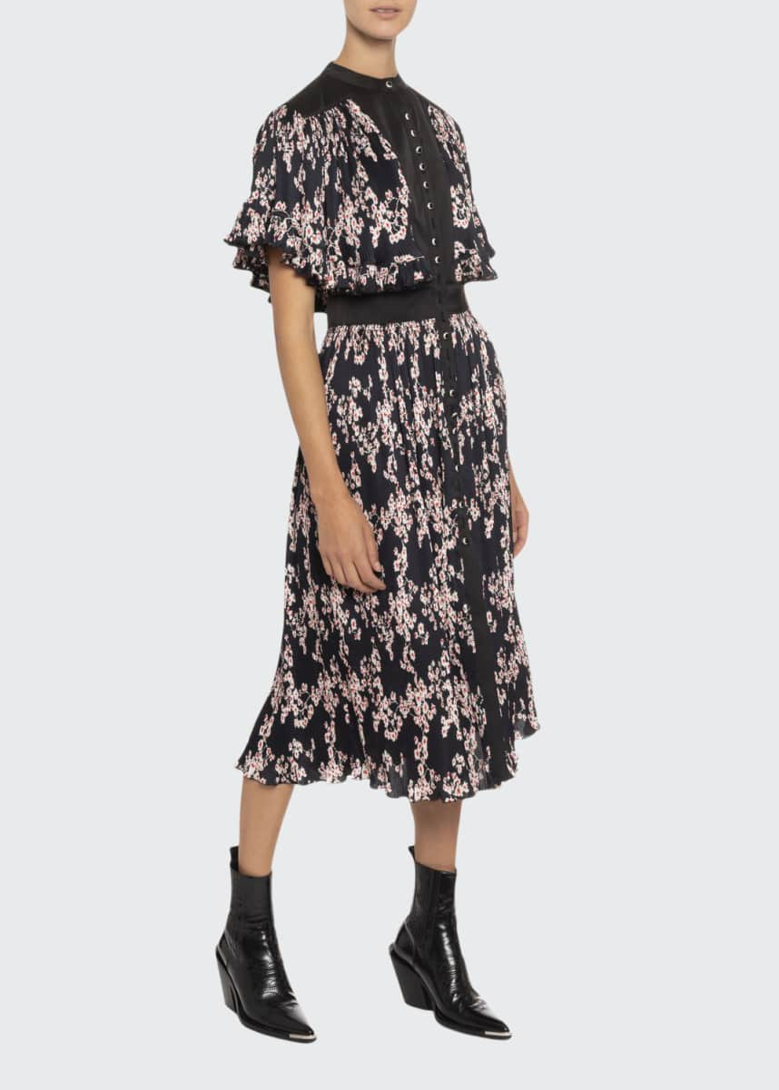 Paco Rabanne Floral Satin Dress