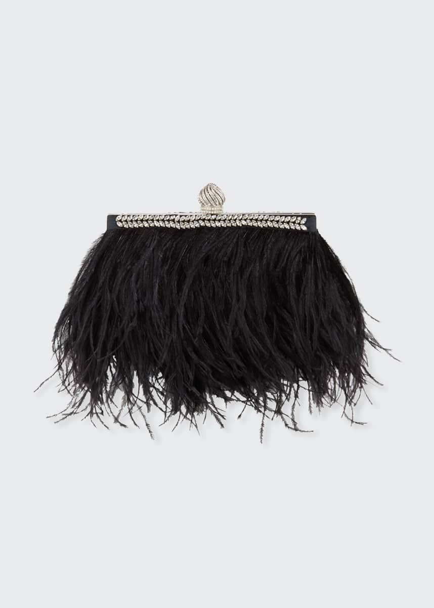 Jimmy Choo Celeste Ostrich Feather Clutch Bag