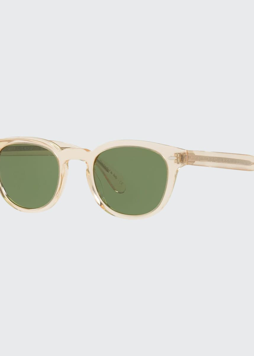 Oliver Peoples Men's Sheldrake Round Sunglasses