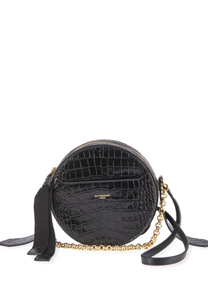Givenchy Eden Croc-Embossed Round Shoulder Bag