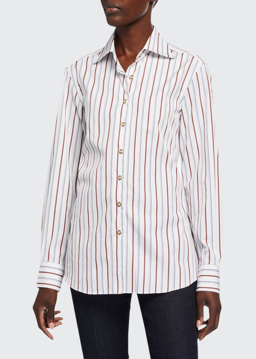 Giuliva Heritage Collection Striped Slim-Fit Shirt