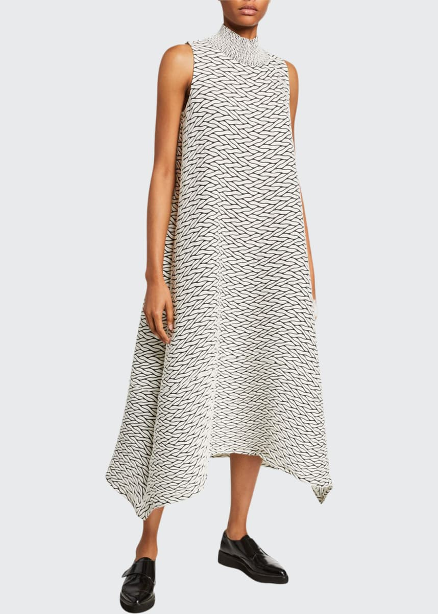 Issey Miyake Billowy Stretch A-Line Dress