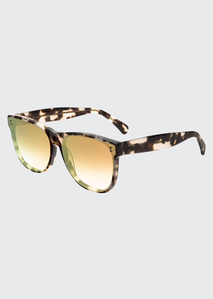 Illesteva Madrid Rectangle Acetate Sunglasses