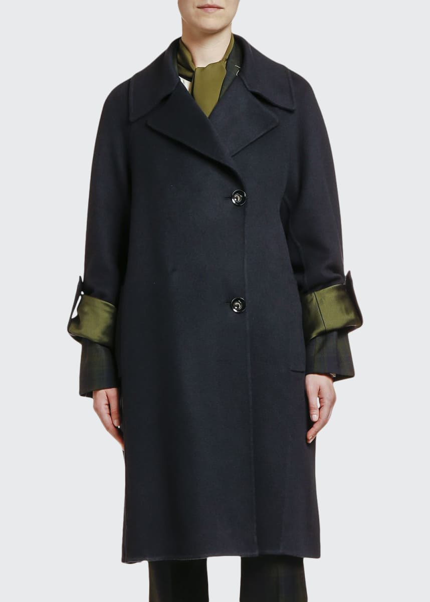 Marni Wool-Cashmere Two-Button Duster Coat